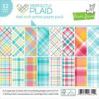 Scrapbooking Crafts Lawn Fawn 6X6 Paper Pad Perfectly Plaid Pink Blue Bright