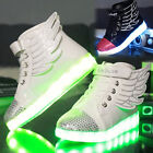 USB new LED Light up boys girls Sneakers fashion Wings Kids high top Shoes A451