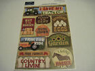 Scrapbooking Crafts Karen Foster Stickers Love My Tractor Farm Farmer Ha