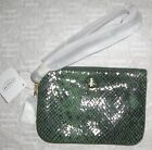 NWT Coach Green Signature Exotic Snake Print Embossed Leather Wristlet F50162