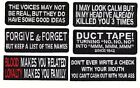 Voices Look Calm loyalty EMBROIDERED Set of 6 MC BIKER PATCH BY MILTACUSA