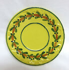 Old Quimper Pottery France Soleil Yellow Saucer / Plate ~ 6