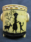 Vintage Erphila Art Pottery Czechoslovakia Biscuit Jar Lovely Silhouette Design
