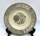 W England Brown Aesthetic Transferware Rim Soup Bowl
