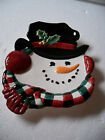 Fitz & Floyd Essentials Top Hat Snowman Christmas Canape Plate
