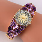 Womens Flower Butterfly Dress Bangle Numbers Dial Rhinestone Cheap New Watches