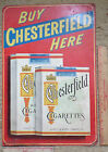 Vintage 50s Chesterfield cigarette sign collectible old tobacciana advertising