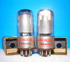 6SK7GT vacuum tubes 2 valves Continental AA5 vintage radio amplifier tested 6SK7
