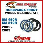 MX Front Wheel Bearing Kit Husqvarna SM450R SM510R 2005-2009, All Balls 25-1415