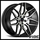22 GIOVANNA BOGOTA MACHINED BLACK CONCAVE WHEELS RIMS FITS BENTLEY CONTINENTAL