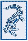 Flexible Stencil CROCODILE Embossing Pricking Card Making 95 x 145cm