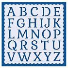 Flexible Stencil ALPHABET LETTERS Embossing Pricking Card Making 145 x 145cm