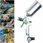 Hvlp Spray Gun 1.3 1.4 2.5mm Tip Auto Paint Gauge Gravity Feed Nozzle Flake Car