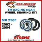 Rear Wheel Bearing Kit TM Racing MX250F MX 250F MXF250 2002-2004, All Balls 25-1