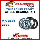 MX Front Wheel Bearing Kit TM Racing MX250F MXF250 2006 Dirt Bike, All Balls 25-