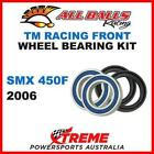 MX Front Wheel Bearing Kit TM Racing SMX450F SMX 450F 2006 Moto, All Balls 25-15