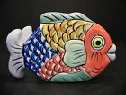 Tabletops Unlimited Pescada Napkin Holder Hand Painted Fish Design  *
