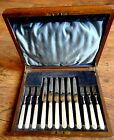 1920s English Silver Plate Cutlery Set with Mother of Pearl Handles