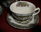NWOT 3 JOHNSON BROS FRIENDLY VILLAGE TEACUPS / SAUCERS  Made in England
