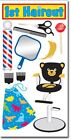 Scrapbooking Stickers Sandylion 1st Hair Cut Haircut Barber Pole Bear Chair Bib