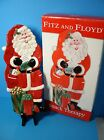 Fitz and Floyd Snack Therapy Santa Claus Plate.New in box.Christmas Decor.