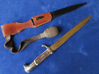 WW2 GERMAN LUFTWAFFE DRESS BAYONET SCABBARD FROG AND KNOT EICKHORN SOLINGEN