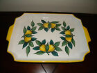 Hand Painted Lemon Italian Ceramic Pottery Sorrento Made in Italy Plate Platter