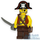 Lego Custom Assembled Minifig - Pirate with Sword and Skull/Crossbones Hat