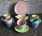 Taylor Smith Taylor LuRay Pastels Plate Lug Soup Bowls Cups Saucers Lot of 20