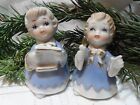 GIRL PORCELAIN FIGURINES BRIGHT GOLD ACCENT