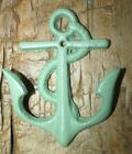 Cast Iron Nautical Anchor Towel, Coat Hooks, Hat Hook, Key Rack  Sea Foam GREEN