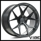 20 ROHANA RFX5 BLACK FORGED CONCAVE WHEELS RIMS FITS INFINITI G35 COUPE