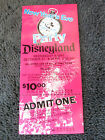 1975 vtg rare Disneyland UNUSED Admission New Years Eve ticket original 1970s z