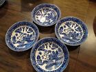 4 Blue Willow Berry Fruit Dessert Bowls (SET) 5 3/8