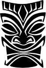Island Tribal Tiki Hawaii Style B vinyl sticker decal U Choose Size