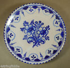 Vintage Puente Spain Blue Delft Faience Majolica Decorative Wall Plate 10.75