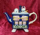 Vintage  Royal Blue Old Stove Top Breakfast Footed TEAPOT