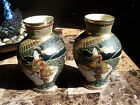 A VERY BEAUTIFUL PAIR OF VINTAGE SATSUMA JAPANESE VASES FROM THE 1920s
