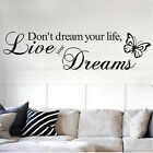 Black DIY Removable Quote Word Decal Vinyl Home Room Decor Art Wall Stickers