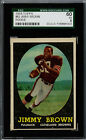 1958 Topps Football #62 Jim Brown Cleveland Browns Rookie Card SGC 60 EX 5 Sharp