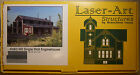 LASER ART STRUCTURES HO SCALE SINGLE STALL ENGINE HOUSE CRAFTSMAN KIT--KIT #683
