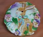 Fitz and Floyd Halcyon Canape Plate Bunny Easter Design