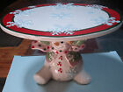 Fitz and Floyd Frosty Friends Small Footed Server New in Box 10