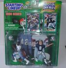 Troy Aikman Emmitt Smith Classic Doubles Starting Lineup Figure w/ Cards Cowboys