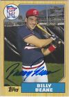 BILLY BEANE 2004 TOPPS ALL-TIME FAN FAVORITES AUTOGRAPH AUTO #FFA-BB RARE