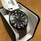 New Wenger Swiss Military Roadster Men Genuine Leather Analog Quartz Watch Hours