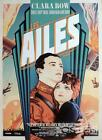 WINGS - BOW / ROGERS / PLANES / MILITARY / WAR - REISSUE FRENHC MOVIE POSTER