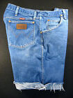 Wrangler 3k Vintage CUTOFF JEAN SHORTS Cut Off W 33 MEASURED Hot Pants Relaxed