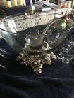 Vintage Punch Bowl Pitman Dreitzer with Cups and Ladle