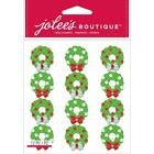 Scrapbooking Stickers Jolees Wreaths Bows Mini Repeats Gems Christmas Red Green